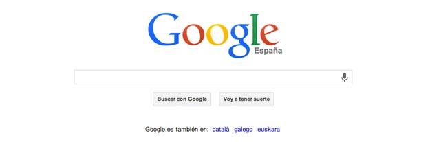 Google, el ejemplo de interfaz concisa y minimalista por antonomasia
