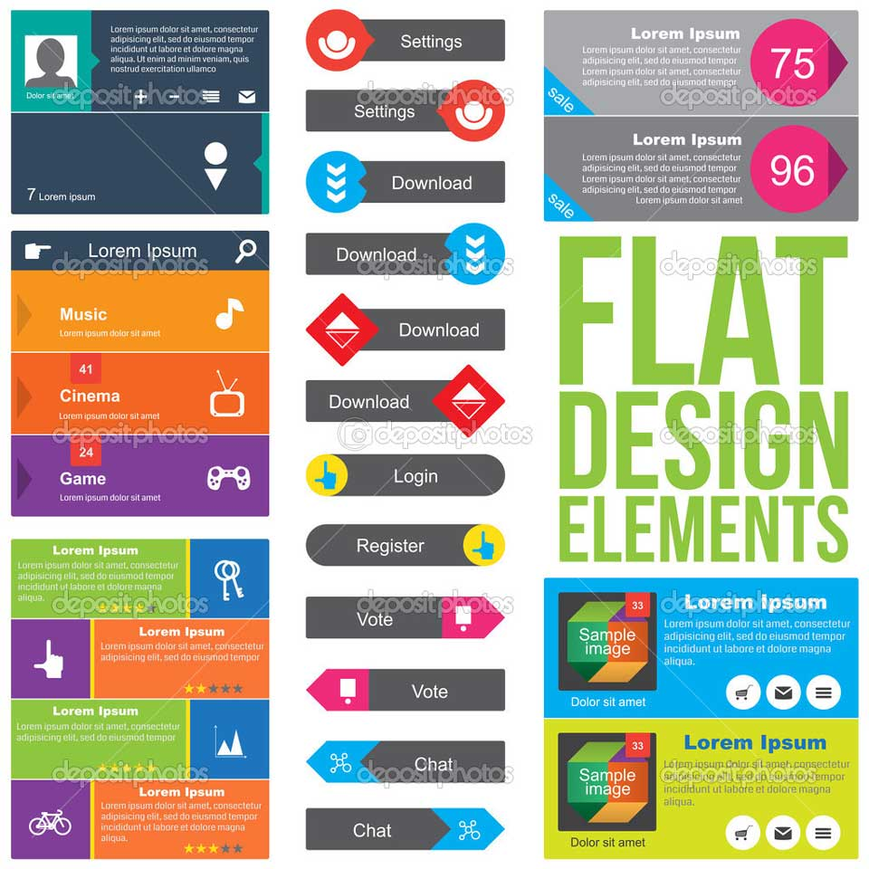 7 caracter sticas del flat design estudio creativo for Flat design pictures